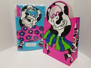 Hallmark Party Cow Cows Gift Favor Bags 10 pk