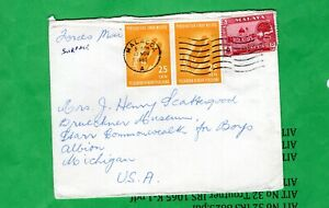 Malaysia, cover  sent to Albion Michigan  (903