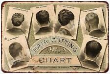 Barber Shop Hair Cutting Chart Vintage Look Reproduction Sign 8x12 8123707