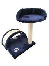 Vencier Cat Scratching Post Bed Tree Activity Centre Toys Navy Blue  Sisal Play