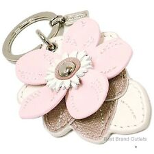 COACH <> Leather Flower Charm Key Ring F69956 Multi-color <> NWT!