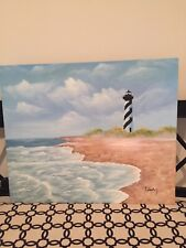 Cape Hatteras Lighthouse Oil Painting