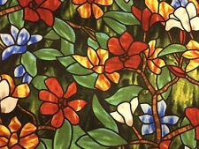 God So Loved The World Stained Glass 100% cotton fabric by the yard