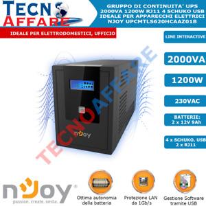 Gruppo di Continuità UPS 2000VA 1200W Line Interactive Stabilizzatore Pc Njoy