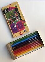 Vintage JOHANN FABER Colored Pencil Set Nr. 87 Original 12 Pack Case Germany