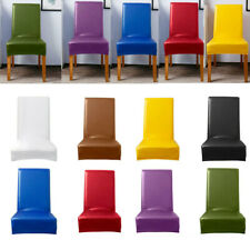 PU Leather Elastic Waterproof Hotel Stretch Seat Chair Cover Wedding Party Decor