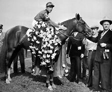 Whirlaway - 1943 Triple Crown Winner (Jockey - Eddie Arcaro), 8x10 Photo
