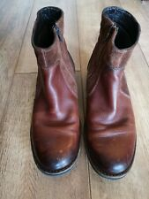 Camel Active Mens Leather Boots, UK Size 7.5. Leather and Suede. VGC.