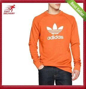 Adidas Original Men's Trefoil SWEATSHIRT Crew Neck Jumper Shirt XS S M L XL