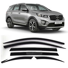 Out-channel Vent Window Visors Rain Guards Deflector For KIA 2015-17 Sorento UM