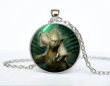 Star Wars Photo Cabochon Glass Tibet Silver Chain Pendant Necklace AAA32
