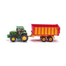 SIKU 1650 JOHN DEERE Tracteur avec wagon d'ensilage vert/rouge (boursouflure)