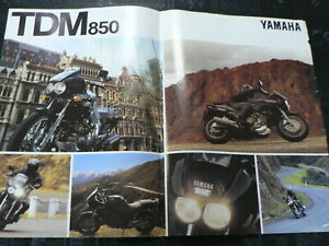 Y406 YAMAHA BROCHURE PROSPEKT FOLDER POSTER TDM 850 NOT 100 % OK IS DAMAGED