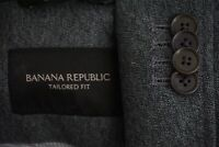 Banana Republic Tailored Fit Gray Mottled Cotton Recent Sport Coat Jacket Sz 38S