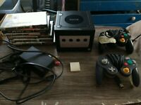 Nintendo GameCube Black Console Little Scuffed + 6 Games Working Lot Fast Ship!
