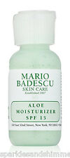Mario Badescu ALOE MOISTURIZER With SPF 15 29ml TRAVEL SIZE Moisturiser SPF15