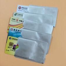 Lots Aluminum Foil Blocking ID Credit Card Protector Secure Sleeve Holder