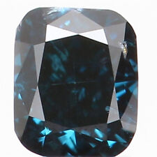 Natural Loose Diamond Blue Color Cushion SI1 Clarity 3.00 MM 0.12 Ct KR903