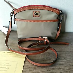 🛍Dooney and Bourke Wayfarer Nylon in Classic Taupe Color NWT $108🏷