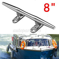 8'' Marine Boat Yacht Hollow Base Cleat Dock Deck Rope Bollard Stainless