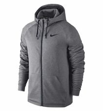 NIKE THERMA FULL ZIP TRAINING HOODIE GREY,BLACK 800187-091 MEN'S SIZE SMALL