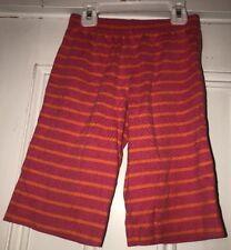 Hanna Andersson Girls Pink Orange Striped Pajama Shorts Size 90 3