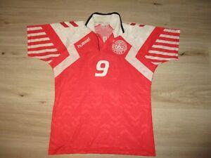 hummel DENMARK #9 POVLSEN 1992 shirt oldschool vintage trikot DANMARK DBU