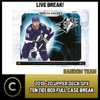 2019-20 UPPER DECK SPX HOCKEY 10 BOX (FULL CASE) BREAK #H601 - RANDOM TEAMS