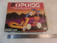 VINTAGE POPOIDS COSMIC CARS SET WITH BOX BY TOMY 1980s 24pc