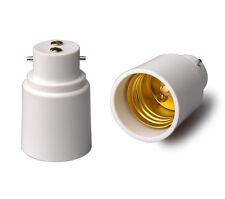 5xBayonet BC B22 To E27  Edison Screw Light Bulb Adaptor Lamp Converter Holder