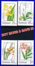 SAMOA 1989 ORCHIDS / FLOWERS MNH