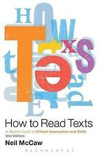 How to Read Texts; Paperback Book; McCaw Neil, 9781441190666