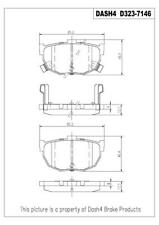 Rear Disc Brake Pad Semi-Metallic Fits Hyundai Elantra Tiburon Kia Spectra