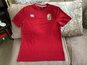 Canterbury British Lions 2021 Rugby Red T-shirt Size XL In Great Condition