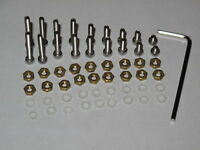 Cartridge Mounting Stainless Steel Screws,Brass Nuts and Nylon Washers kits