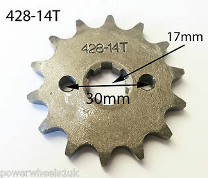 SPF12 FRONT SPROCKET 428-14T 14 TOOTH FOR QUAD / DIRT & PIT BIKES