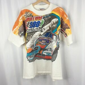 Dale Earnhardt T-Shirt XL All Over Print Dura Lube 500 Kmart Phoenix NASCAR 1998