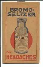 BROMO SELTZER POCKET MEMO BOOKLET BLASZAK'S PHARMACY CHICAGO free sheet music