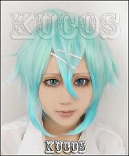 Cosplay Perücke Sword Art Online Gun Gale Online GGO Asada Shino green haar