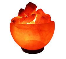 Salzlampe Nachttischlampe Feuerschale Ø15 ,ca 3 Kg Salzleuchte Salzkristall