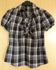 Waist Length Check Blouses for Women without