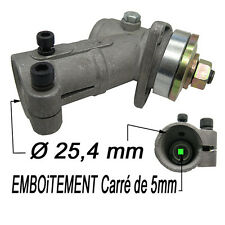 renvoi d angle a engrenage tete debroussailleuse 25.4mm emboitement carre 5mm
