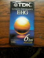 TDK Ultimate Performance E-HG Quality Grade VHS T-120 6 Hour Blank Video Tape