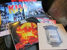 Kiss the originals 3 LP '76 w/book nblp7032 w/Meets Phantom of Park POSTER rare