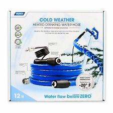 "CAMCO 22910 Heated Drinking Water Hose with Thermostat 12' 5/8"" ID"