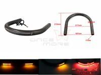 """7/8"""" Tube Cafe Racer Rear Seat Frame Hoop Brat Loop & LED Brake Turn Light Lamp"""