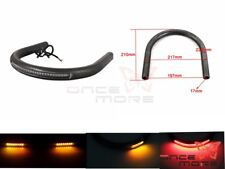 "7/8"" Tube Cafe Racer Rear Seat Frame Hoop Brat Loop & LED Brake Turn Light Lamp"