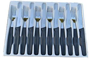 Victorinox Pointed Steak & Fork Cutlery set, Original Flat Handle (Rare)