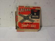 2-Vintage Atlas HO 90 Crossing Tracks in Original Box .