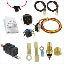 Universal 185/165 12V Car Dual Electric Cooling Fan Wiring Harness Kit 40A Relay